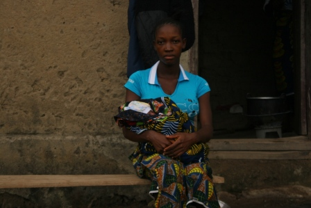 A 19 year old widow of an ambullance driver in Telbomai community