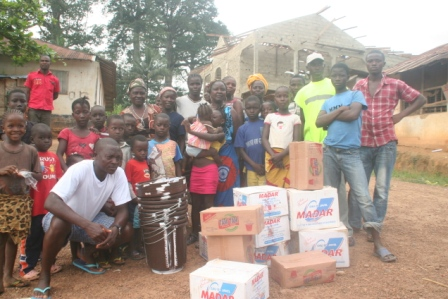Bolahun victims receive anti ebola materials