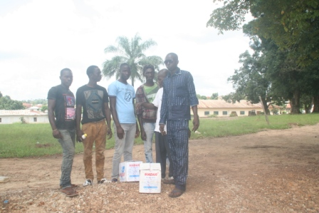 Ebola victims receive donation in voinjama