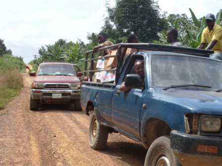 Convoy of two heads to Gibi District