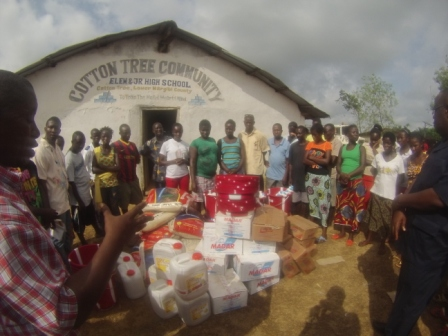 Cotton Tree Community receive aid after losing 18 to ebola