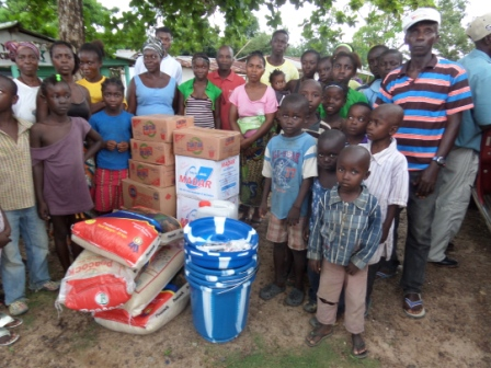 EBOLA victims in Benla Community receive donation after losing 4