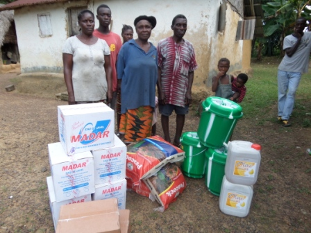 Ebola Victims in Gbolokai Town receive ration after losing 3