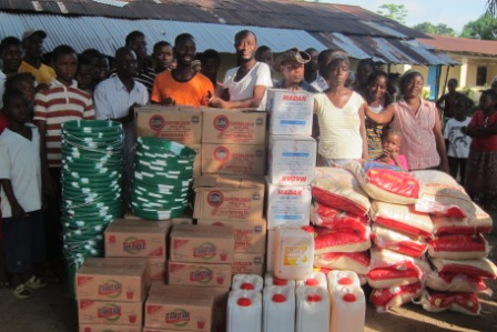Ebola victims in Sugar Hill receive donation
