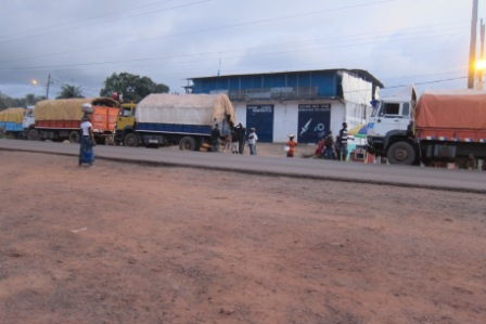 four trucks loaded with consignment heading for margibi