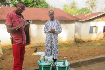 Imam Alieu Darsee of Up-Town Community, Mosque Receives anti Ebola materials
