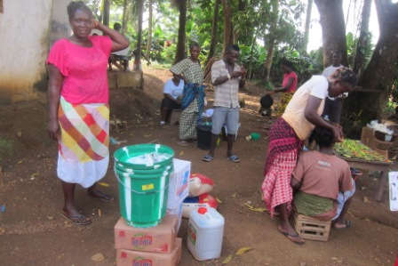 Omu Fahnbulleh the first ebola survival in Grand Cape Mount receives aid after losing mother, father, husband and four others to ebola