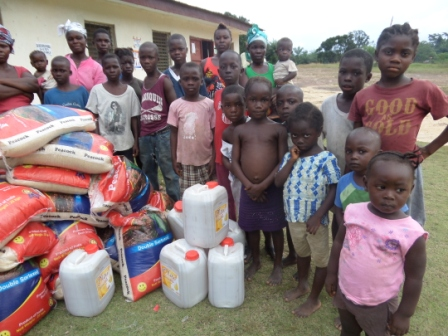 Orphans of Ebola in Worhn receive food and non food items from SEFL