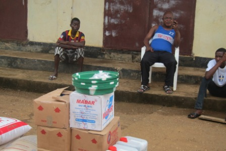 Stephen Konneh and other Quarantine family members in central ward community