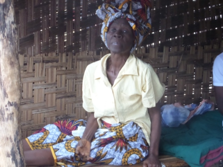 Tewah Nyumah a 75 year old ebola survival in 26 Gate Community
