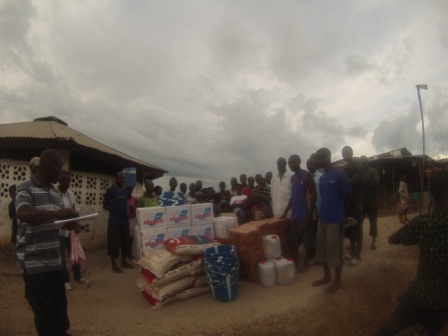 Affected families in Gotomo town receive donation