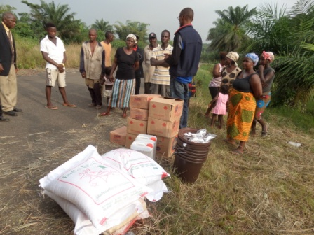 Bentol Victims receive ration