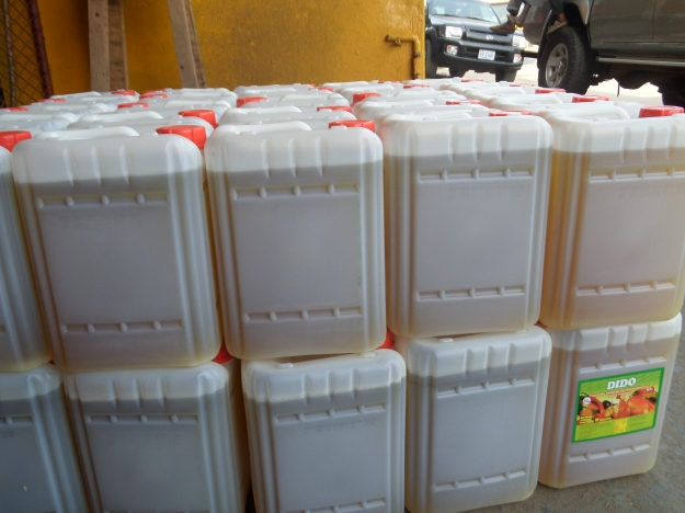 Cooking Oil ready for Ebola victims  in Montserrado County