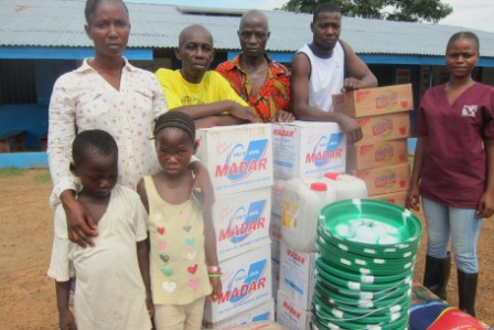 Ebola Survivals and Orphans in Bo Waterside receive aid