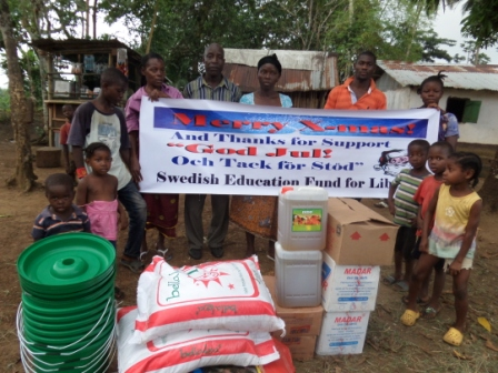Ebola Victims from Bentol community the capital of Montserrado appreciate SEFL for support