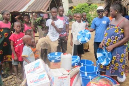 Ebola victims in camp three receive donation from Multi Services, after rejecting donation given by WFP (WORLD FOOD PROGRAMME) claiming that ration was of poor quality