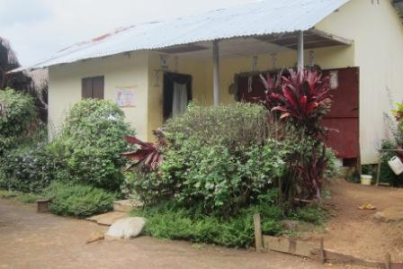 Home of Late Bob Dahn  a health worker that died with  signs and symptoms of ebola where 19 are currently been kept at home for observation in camp 3 community