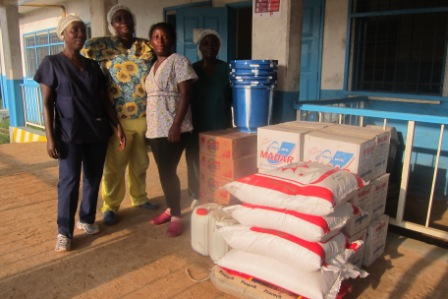 Sinje Health Center gets supporting supplies