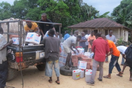 Supply finally arrive in Wealiquah after losing 2,  6 currently undergoing treatment at Bomi ETU Center while  61 are quarantined to prevent further spread