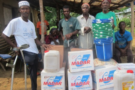 The Disable Community in Bo Waterside, Receive food and Anti Ebola Materials From SEFL through MSL