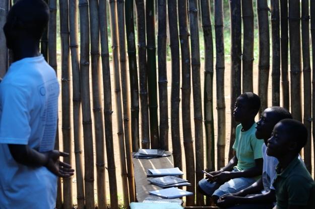Mother Artis: Det är en tillfällig bambubyggnad efter att man tvingats flytta.