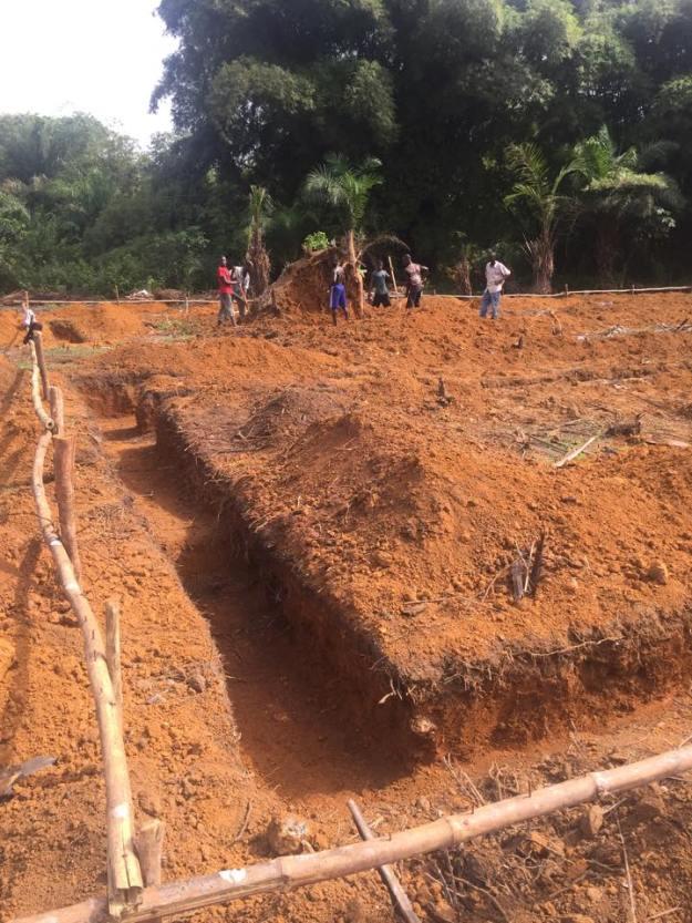 Digging ground