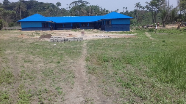 front view of new school in Koilahun_ after